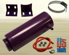 800ml Cylinder Radiator Overflow Reservoir Coolant Tank Purple Aluminum Can