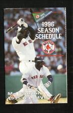 Boston Red Sox--Mo Vaughn--1996 Pocket Schedule--WEMJ