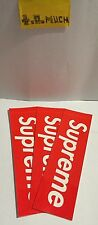 Lot of THREE (3) SUPREME Box Logo Stickers 100% BRAND NEW & AUTHENTIC GUARANTEED