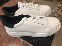Wanted Chervil - White/black Lace-Up Platform Wedge Sneaker perfect for NURSES