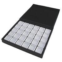 Coffret de Gemmologie - 20 Boîtes - 3 X 3 cm - Pour Pierres Précieuses / Diamant