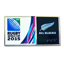 Rugby World Cup 2015 All Blacks Dual Logo Pin