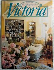 Victoria magazine August 1996~Grand Tour silverware~Irish pottery~Fine linens-NR
