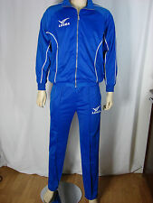 Legea Mens Blue Tracksuit Zip Up Top & Bottoms Size Small
