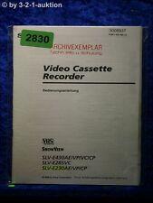 Sony Bedienungsanleitung SLV E430AE /VP /VC /CP /E230AE /E285VC (#2830)
