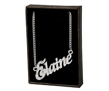 """Name Necklace """"ELAINE"""" –18K Gold Plated 