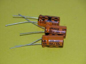3pk -  150uf/50V Sprague -Radial (Last Packs)