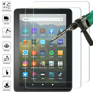 Tempered Glass Screen Protector For Amazon Kindle Fire HD 8, Fire HD 8 Plus 2020