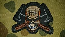 NEW SKULL TOMAHAWKS ARMY KHAKI BROWN TACTICAL MORALE COSPLAY PATCH AUSTRALIA AUS