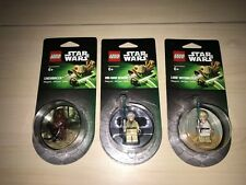 Lot of 3 Lego Star Wars Chewbacca Obi-Wan Kenobi Luke Minifig Fridge Magnet