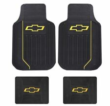 4 PC CHEVROLET CHEVY FACTORY FLOORMATS (FITS MOST CHEVY TRUCKS AND CARS)