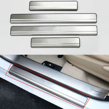 Stainless Steel Door Sill Scuff Plate Cover Trim For Toyota Corolla Altis 2014+