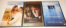 Lot of  3 Russell Crowe Movies (DVD, 4-Discs) WS Good Year Mystery Alaska Mind