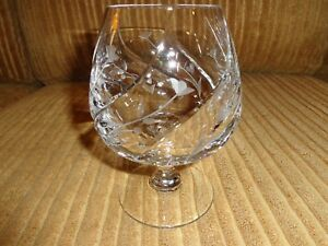 Mikasa English Garden Crystal Brandy Glass Heavy Thick RARE!