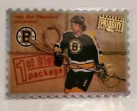 1997-98 Donruss Priority Stamp Of Approval #207 Joe Thornton Boston Bruins #/100