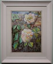 Original Pastel Drawing / Painting COUNTRY ROSES by Irish Artist FREDA KEMP USWA