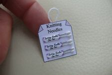 1/12th dolls house - KNITTING NEEDLE HANGING DISPLAY CARD - SG