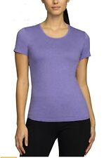 NEW Women's Weatherproof 32 Degrees Cool Short Sleeve T-Shirt Violet Size SMALL