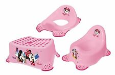 Disney Minni Maus 3er Set Kindertopf + WC Aufsatz + Hocker Toilettentrainer Topf
