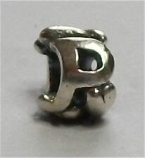 Authentic Silver TROLLBEADS INITIAL/LETTER  P BEAD. New. Surrounded by hearts