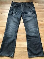 Tom Wolfe Straight Jeans Dark Blue 36w 31l Zipper Fastening