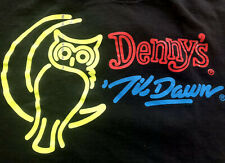 WORLD Famous Denny's Diner Til Dawn LIFE'S TOO SHORT TO SLEEP Adult T-shirt XL
