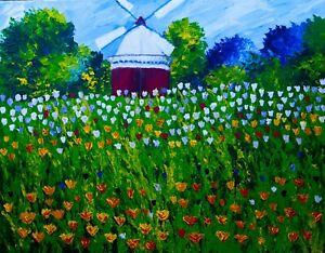 Tulip Time Natasha Petrosova Original  Painting Impressionism 534