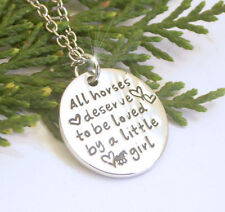 HORSE & WESTERN JEWELLERY JEWELRY ALL HORSES DESERVE..  NECKLACE SILVER