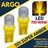 2x 501 Led Amber Orange Indicator Signal Turning Side Light Car Bulb T10 W5w 12v