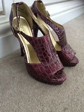 Purple Shoes Stiletto High Heels Size 4 37