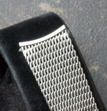 Vintage watch band JB Champion USA steel mesh 18mm curved ends 1960s old stock