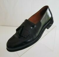 Bostonian Classics Mens Loafers Black Leather Tassel Kiltie Apron Toe Shoes 9W