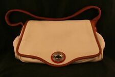Marc By Marc Jacobs Turnkey Pebble Leather Handbag Cream, Tan and Red