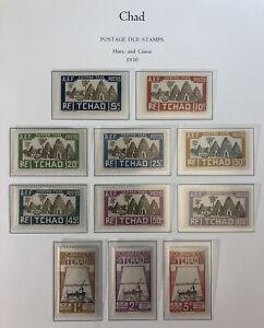 Chad 1930 Postage Dues Scott# J12-J22 MINT