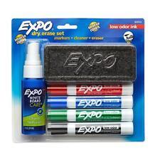 Expo Dry Erase Marker Starter Set Chisel Tip Assorted Colors 6 Piece