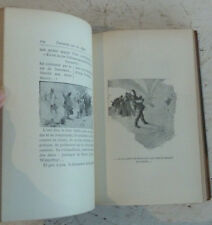Vintage French Leather Book Alphonse Daudet Tartarin Sur Les Alpes Illustrated
