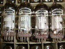 10 x 6689 RAYTHEON NOS TUBES, = E83F TUBES. CRYOTREATED