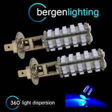 2X H1 BLUE 60 LED FRONT MAIN HIGH BEAM LIGHT BULBS HIGH POWER KIT XENON MB500102