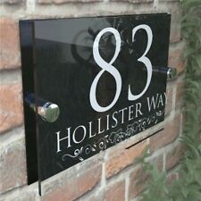 200x140mm Personalised House Number Sign Door Numbers Street Address Plaques New
