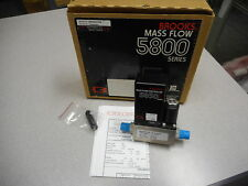 BROOKS INSTRUMENTS 5800 SERIES 5850E MASS FLOW CONTROLLER GAS: N2 RANGE: 30 SCCM