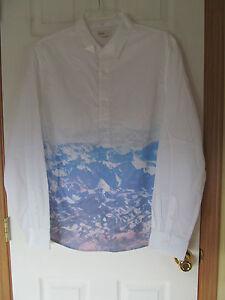 NWT Men's Walker Refinery White long sleeve Button Down Shirt Sz Large