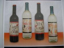 8 Halloween Party Wine Bottle Labels Vampire Blood Spider Cider Tombstone Brew