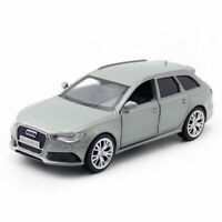 1/36 Scale Audi RS 6 Avant Model Car Diecast Toy Vehicle Kids Grey Pull Back