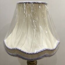 One Luxurious Large Table Lampshade Colour Off White PurpleFringe & Pretty Braid
