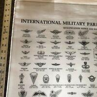 Vintage Print International Military Parachutists Insignia Qualification Wings