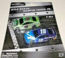 NASCAR AUTHENTICS 2019 1/87 #18 KYLE BUSCH & #19 MARTIN TRUEX JR. 2 CAR SET NEW!
