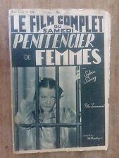 Magazine FILM COMPLET PENITANCIER DE FEMMES sylvia SIDNEY gene RAYMOND 1939 *