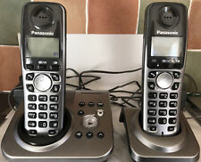 Panasonic Cordless Phone Twin.  One With Answerphone.  The Other With Charger.