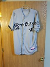 George Kottaras Authentic Majestic TEAM ISSUED Milwaukee Brewers Jersey Sz.48