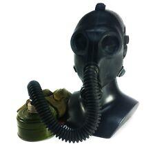 Genuine Soviet Russian Ussr Gas mask Pdf-2Sh Black rubber hose New